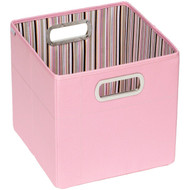 JJ Cole Collections Storage Box, Pink Stripe, 11''