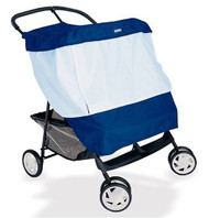 Kiddopotamus BabyShade® Double Stroller Cover Protects Infants in Canopied Twin Strollers from Sun, Rain, Wind and Flying Insects