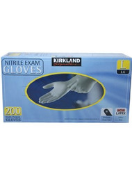 Kirkland Signature Nitrile Exam Gloves 200/Large