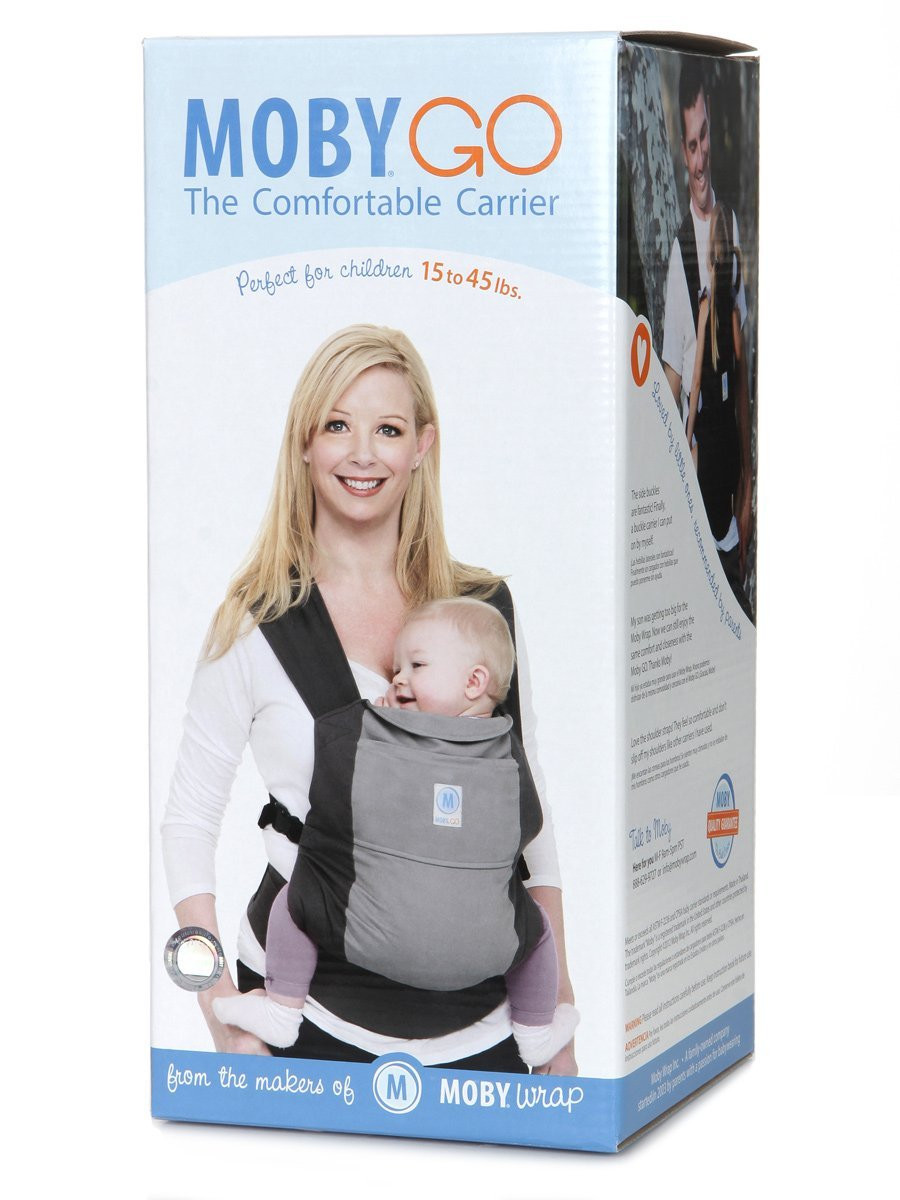93d35784f97 ... Moby Soft Structured Baby Carrier-Black. Image 1