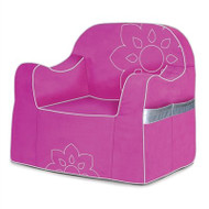 P'kolino Reader Childrens Chair Pink & Silver