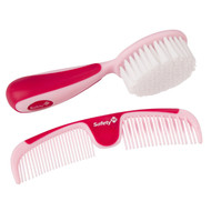 Safety 1st Easy Grip Brush and Comb, Raspberry