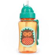 Skip Hop Straw Bottle, Brown Hedgehog, 12 Ounce