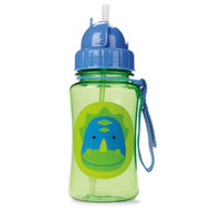 Skip Hop Zoo Straw Bottle, Dinosaur, 12 Ounce