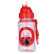 Skip Hop Zoo Straw Bottle, Ladybug, 12 Ounce