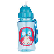 Skip Hop Zoo Straw Bottle, Owl, 12 Ounce