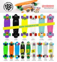 Stereo Vinyl Cruiser Plastic Complete Skateboard Wht/Wht/Red