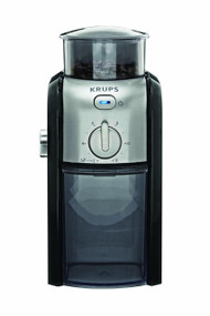 KRUPS GVX212 Coffee Grinder with Grind Size Cup Selection and Stainless Steel Conical Burr Grinder, Black