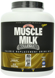 CytoSport Muscle Milk Collegiate Calorie Replacement Drink Mix, Chocolate, 5.29 LB, Container