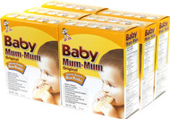 Hot-Kid Baby Mum-Mum Original Flavor Rice Biscuit, 24-pieces-1.76oz(Pack of 6)