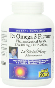 Natural Factors Rxomega-3 Factors Softgels, 120-Count