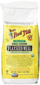 Bobs Red Mill Organic Flaxseed Meal 16-Ounce Packages