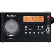 Sangean PR-D7 BK AM/FM Digital Rechargeable Portable Radio - Black