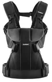 BABYBJORN Baby Carrier One, Black, Cotton