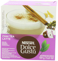 Nescafe Dolce Gusto for Nescafe Dolce Gusto Brewers, Chai Tea Latte, 16 Count (Pack of 3)