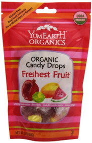YumEarth Organic Freshest Fruit Drops, 3.3 Ounce Pouches (Pack of 6)