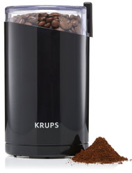 KRUPS F203 Electric Spice and Coffee Grinder with Stainless Steel Blades, Black/ Pack of 2