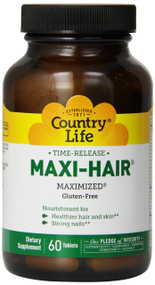 Country Life Maxi Hair Time Release, 60-Tablet