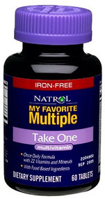 Natrol My Favorite Multiple Iron-Free Take One Multivitamin Tablets, 60-Count