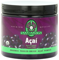 SAMBAZON Organic Freeze-Dried Acai Powder, Antioxidant Superfood, 90-Gram Jar
