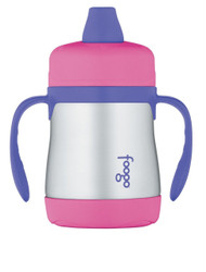 Thermos FOOGO Phases Stainless Steel Sippy Cup, Pink/Purple, 7 Ounce