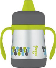 Thermos FOOGO Phases Stainless Steel Sippy Cup with Handles, Tripoli, 7 Ounce