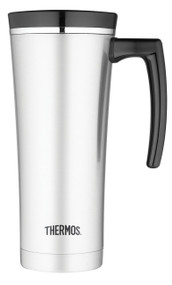 Thermos 16-Ounce Vacuum Insulated Travel Mug, Black