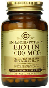 Solgar - Biotin 1000 mcg Vegetable Capsules 100