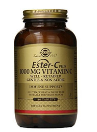 SOLGAR Ester-C Plus 1000 mg Vitamin C Tablets 180