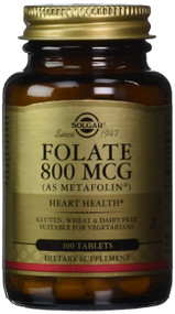 Solgar - Folate 800 mcg (as Metafolin) Tablets 100