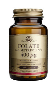 Solgar - Folic Acid 400 mcg Tablets 100