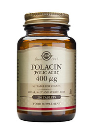 Solgar - Folic Acid 400 mcg Tablets 250