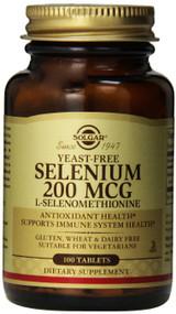 Solgar - Yeast-Free Selenium 200 mcg Tablets 100