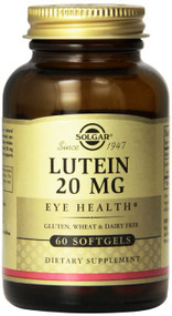 Solgar Lutein Softgels, 20 mg, 60 Count