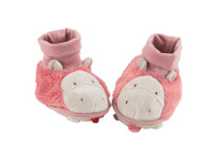 Moulin roty Zazous Slippers - Pink Hippo M671014