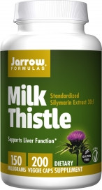 Jarrow Milk Thistle, 150 mg 200 Veggie Capsules