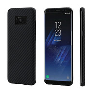 PITAKA Minimalist Galaxy S8 Plus Case Black/Grey(Twill)
