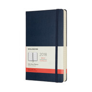 Moleskin 12-MONTH DAILY PLANNER Large Sapphire Blue Hard Cover