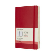 Moleskin 12-MONTH DAILY PLANNER Large Scarlet Red Soft Cover