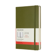 Moleskin 12-MONTH DAILY PLANNER Large Elm Green Hard Cover