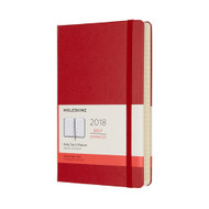 Moleskin 12-MONTH DAILY PLANNER Large Scarlet Red Hard Cover