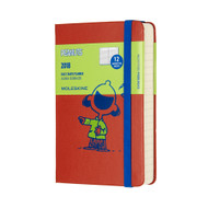 Moleskin 12-MONTH DAILY PEANUTS PLANNER Pocket Coral Orange