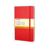 Moleskine Classic Notebook Pocket Ruled Scarlet Red Hard Cover