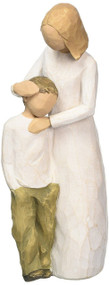 Willow Tree hand-painted sculpted figure, Mother and Son (26102)