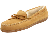 Minnetonka Women's Hardsole Pile-Lined Slipper - Tan/Size 7