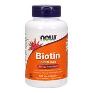 NOW Foods Biotin 5,000 mcg 120 Veg Caps 0474