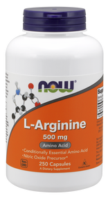 NOW Foods L-Arginine 500mg, 250 Capsules 0031