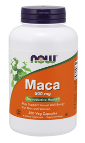 NOW Foods MACA 500mg  250 VCAPS 4762