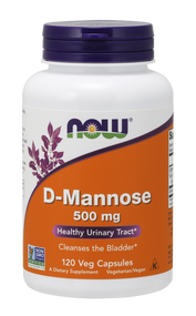 NOW Foods D-Mannose 500 mg Veg 120 Caps 2811
