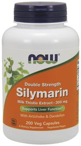 NOW Foods SILYMARIN MILK THISTLE 300mg  200 VCAPS 4753